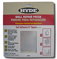 SELF ADHESIVE 6 x 6 SQUARE  WALL REPAIR PATCH