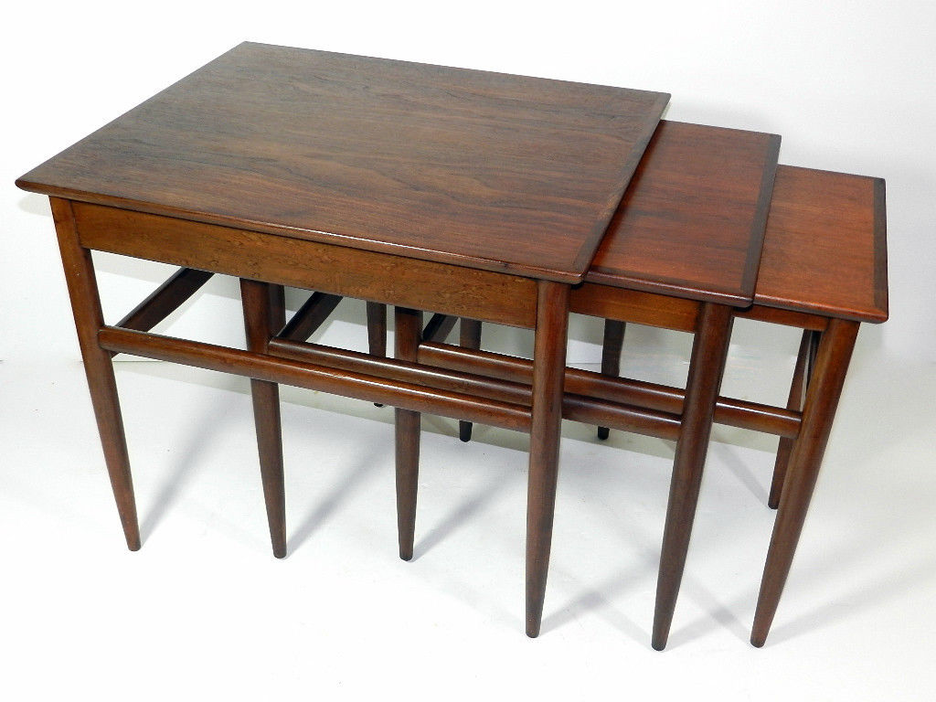 mid century modern nesting tables -
