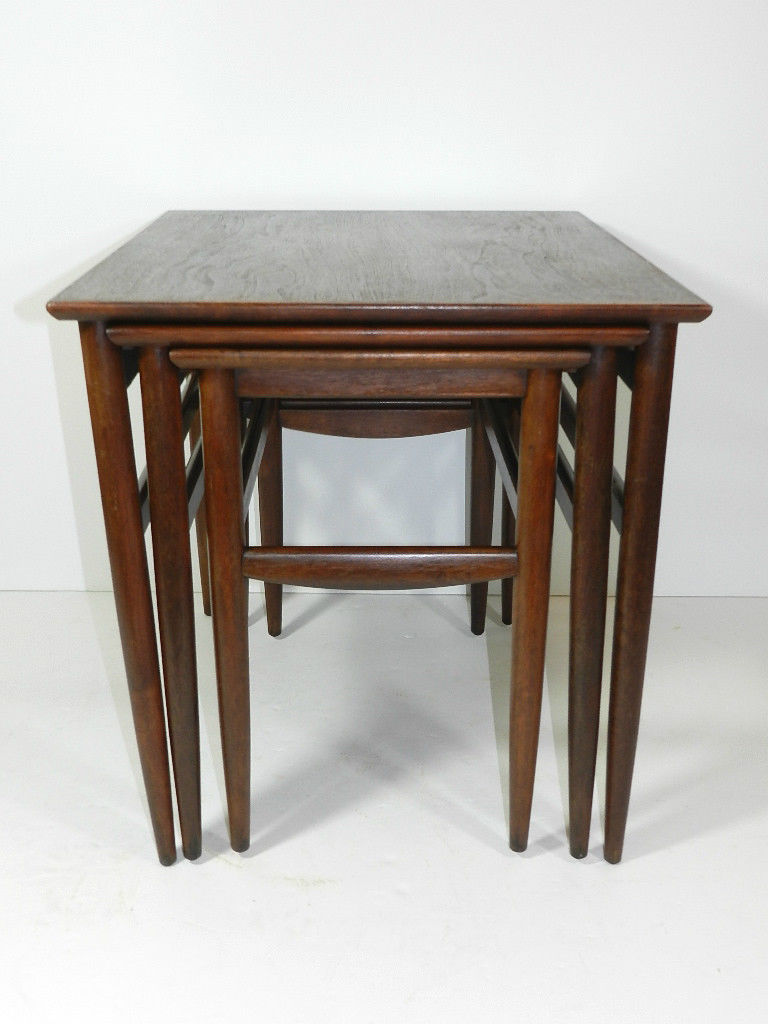 Attractive Mid Century Modern Nesting Tables. Stacking Nesting Table Measurements