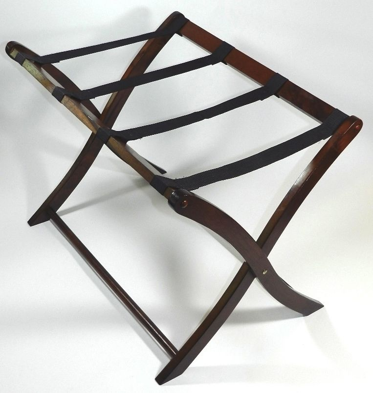 Vintage Folding Wood Luggage Suitcase Rack