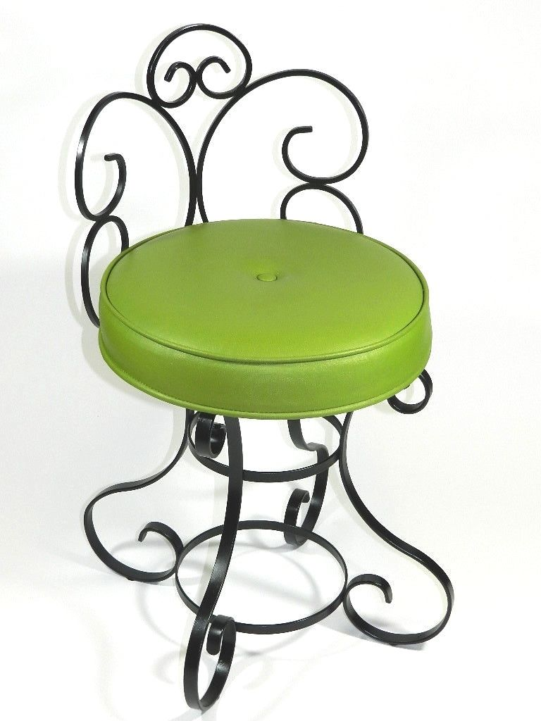Wrought Iron Vanity wrought iron vanity chair